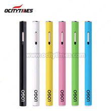 O6 Blanco Negro Color 0.5ml Desechable Vape Pen con 0.7mm, 0.9mm, 1.2mm. Tamaño del orificio de aceite de 1,6 mm