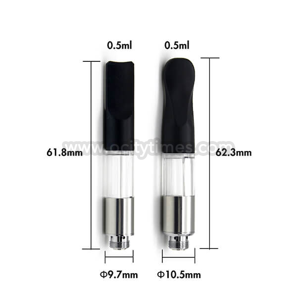 Wickless desechable cbd cartucho 0.5ml